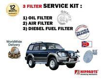Pour Toyota Prado + Colorado 3.0 dt D4D 1996 - 2003 nouvelle huile air carburant kit de filtre 3