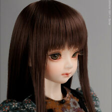 "Dollmore 1/4 BJD MSD wig  (7-8)"" PNY Bangs Straight (D.Brown)"