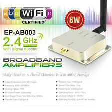8W 2.4Ghz Wifi Wireless Broadband Amplifier Router Signal Booster 802.11n b/g/a