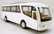 "Kinsmart Coach Travel metro bus 7"" inch  diecast model toy Plain White K210"