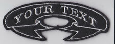 CUSTOM PERSONALISED RIBBON BIKER PATCH CLUB TRIKER