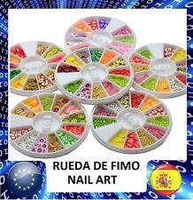 1 RUEDA FIMO NUEVOS MODELOS! DECORACION DE UÑAS, MANICURA, NAIL ART