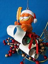 Enesco Ornament  Garfield Dear Santa making his List No Box