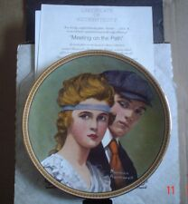 Knowles American Fine China MEETING ON THE PATH By Norman Rockwell Boxed