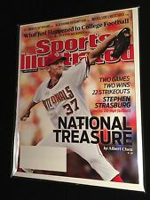 Stephen Strasburg First Sports Illustrated June 21, 2010 Mint Condition