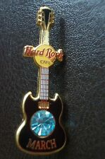 HRC Hard Rock Cafe Online Birthstone Guitar Series 2002 March Mini Guitar LE500