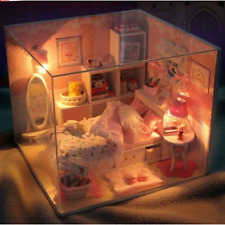 DIY Handcraft Miniature Dolls House - Wooden Dollhouse Light&Cover - UK Stock