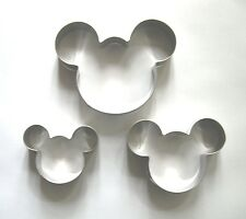 Mickey Maus mouse backen keks ausstecher ausstechform edelstahl 3 Größe/set