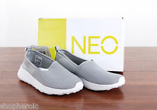 NIB Adidas Womens Neo Lite Racer Slip On Shoes Lightweight Gray Size 10 MED NEW