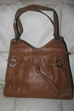 Authentic Lancel Vintage Leather tote shoulder hobo bag
