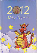 2012 Year of the Dragon - Baby Keepsake Tuvalu dollar coin issued by Perth Mint