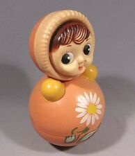 Toy Roly-Poly Nevalyashka Tilting Doll Russian Girl Child Soviet Old Vintage