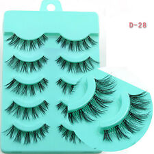 NEW Sale 5 Pairs Long Thick CROSS False Eyelashes Party eye lashes makeup stage