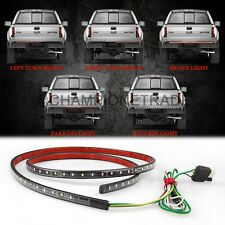 "60"" White Red Car Truck Trunk Stripe LED Running Reverse Brake Signal Light CT"