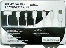 Universal USB Power & Data Link 6 in 1 Cable-GPS GBA SP PSP NDS Samsung iPhone 4