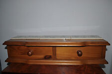 VINTAGE ANTIQUE WOOD BOX  HAND MADE jewellery trinket stationary kitchen unit