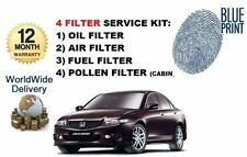 FOR HONDA ACCORD 2.3 TYPE V 2001-2003 OIL AIR FUEL POLLEN FILTER SERVICE KIT
