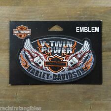 Harley Davidson Authentic Patch - Oval Wings - Medium Emblem Badge