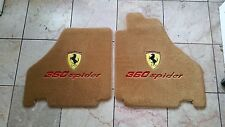FERRARI 360 SPIDER RIGHT HAND DRIVE TAN FLOOR MATS SHIELDS RED lettering