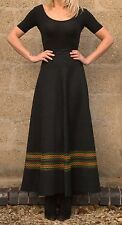 Vintage 1970s Richard Shops Retro Embroidered Long Maxi Skirt S 8