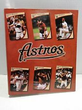 HOUSTON ASTROS Baseball Card 3 Ring Binder Loose Leaf Notebook Souvenir Biggio
