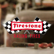 Firestone Aufkleber Sticker Autocollante Hot Rod Rat old school style MOON 160mm