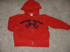 Gymboree Rock 'n Roll 101 Hoodie Top Size 2T 3T Toddler Boys Star Guitar Fall