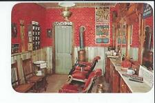 Interior Postcard, Old Barbar Shop, Pikes Peak Ghost Tovvn,Colorado Springs,CO