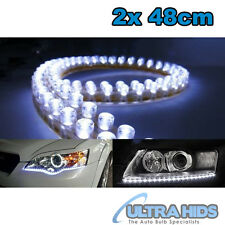 2x White 48 cm  LED Strip Daytime Running Light DRL Driving Fog Lamp  Style ford