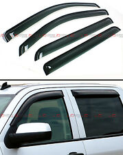 FOR 15-17 CHEVY SILVERADO GMC SIERRA CREW CAB SMOKE WINDOW VISOR VENT RAIN GUARD