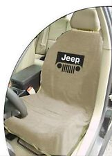 BRAND NEW Jeep Tan Seat Towel Cover With Jeep Wrangler Grille Logo