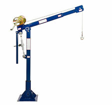 BigQ Davit Crane - 1,000 lb Max Lift, Manual Winch, Powder Coated (Model B10-10)