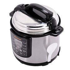 6-Quart Electric Pressure Cooker 1000 Watt Stainless Steel Kitchen