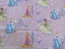 DISNEY PRINCESS CINDERELLA MAGICAL GLOW on 100% COTTON FABRIC Priced By The Yard