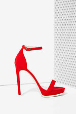 NIB $135 Jeffrey Campbell Finola Red Neoprene Heel  (US 8 )