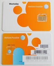 BRAND NEW AT&T FACTORY Micro 4G LTE sim card FOR Iphone 4/4s Galaxy s3/s4/s5