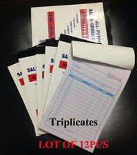 "Lot 12pc Sales Order Book Receipt Book 33 Triplicate Forms Invoice 4.5"" X 6.5"""