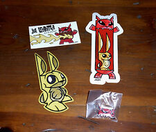 JOE LEDBETTER MR BUNNY PATCH FIRECAT STICKER WITH PIN JLED FIRECAT CARD