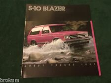 MINT CHEVROLET 1987 CHEVY S-10 BLAZER TAHOE SPORT SALES BROCHURE NEW (BOX 540)