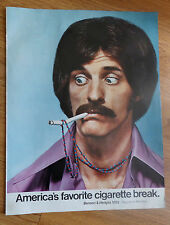 1971 Benson & Hedges Cigarette Ad  Guy with Beaded Necklace