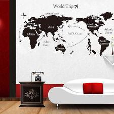 World Trip Travel Map Wall Stickers Art Vinyl Decal Home Decor Wallpaper Mural