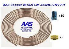 "AAS Copper Nickel Tubing CN-316 3/16"" x 25' Brake Line with 15 Metric Fittings"