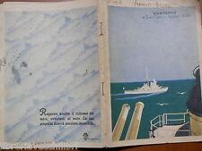 Vecchio quaderno scolastico di scuola d epoca MARINA MILITARE REGIA BURGO GUERRA