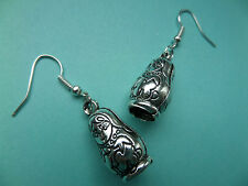 NEW! Babushka - Russian Doll Tibetan Silver Earrings - In Organza Gift Bag.