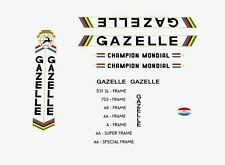 Gazelle Champion Mondial Bicycle Decals, Transfers, Stickers n.22