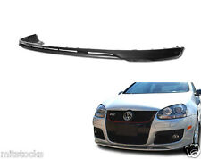 FITS VW GOLF 5 GTI JETTA MK5 ONLY PU BLACK ADD-ON FRONT BUMPER LIP SPOILER CHIN