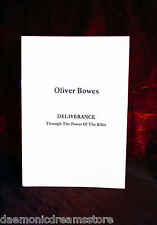 DELIVERANCE THROUGH BIBLE POWER.  Finbarr Occult White Magick. Oliver Bowes. NEW
