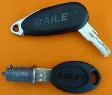 HARTAL FAWO EXTERIOR DOOR LOCK BARREL & FW KEYS FOR BAILEY CARAVAN LOCKS