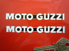 "MOTO GUZZI One Piece Script Motorcycle STICKERS 4"" Vinyl Bike California LeMans"