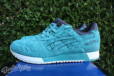 ASICS GEL LYTE III 3 SZ 13 KINGFISHER BLUE TEAL BLACK WHITE H6U2Y 4848